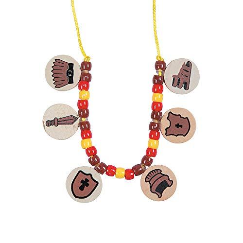 Fun Express - Armor of God Necklace Craft Kit - Craft Kits - Kids Jewelry Craft Kits - Kids Necklace - 12 -