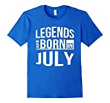 Men's Legends Are Born In JULY T-Shirt Small Royal Blue