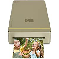 """Kodak Mini Portable Mobile Instant Photo Printer - Wi-Fi & NFC Compatible - Wirelessly Prints 2.1 x 3.4"""" Images, Advanced DyeSub Printing Technology (Gold) Compatible with Android & iOS"""