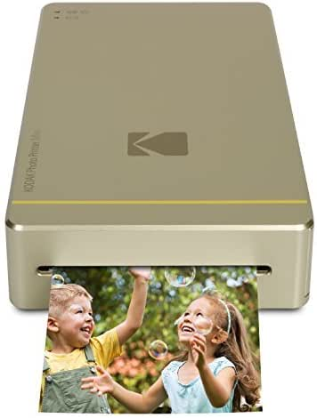 Kodak Mini Portable Mobile Instant Photo Printer - Wi-Fi & NFC Compatible - Wirelessly Prints 2.1 x 3.4 Images, Advanced DyeSub Printing Technology (Gold) Compatible with Android & iOS