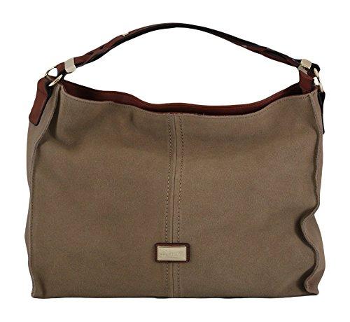 Simply Noelle Vegan Suede Biltmore Hobo Handbag in Khaki by Simply Noelle