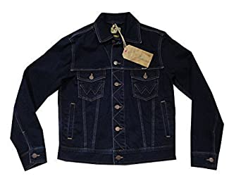 MENS WRANGLER WESTERN STYLE DENIM JACKET BLUE BLACK - XXXL: Amazon ...