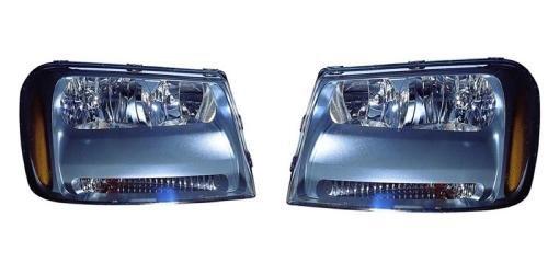 Go-Parts PAIR/SET - Compatible 2006-2009 Chevrolet Trailblazer Front Headlights Assemblies Housing/Lens/Cover - Left & Right (Driver & Passenger) Side - (LT) Replacement For Chevrolet ()