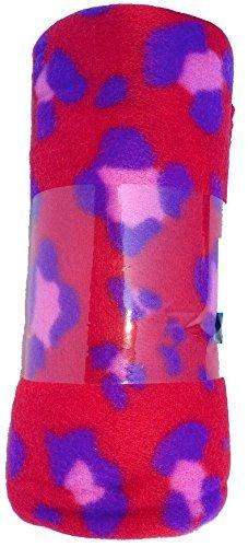 Pink Cheetah Valentines Fleece Throw Blanket 50x60 by Mainstay