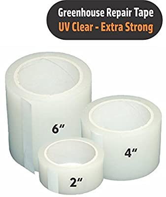 Greenhouse Plastic Poly Permanent Repair Tape UV Clear - Extra Strong