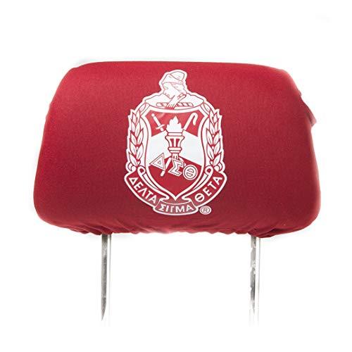 (Delta Sigma Theta Red CAR SEAT Headrest Cover)