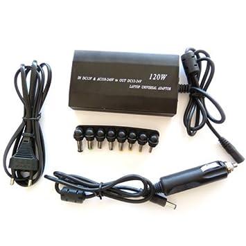 Cargador Universal Portátil 120W 110-220V CA - 12V para Casa y Coche
