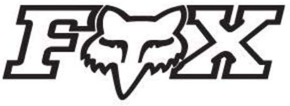 "Fox Racing Black Fox Tdc 2.75/"" Inch Stickers Decals"