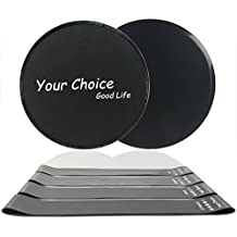 Your Choice Sliders Fitness Equipment Floor Sliders Exercise Core Gliders Gliding Discs for Full Body Workout, Dual Sided for Carpet or Hardwood Floors, Compact for Travel or Home with Carry Bag