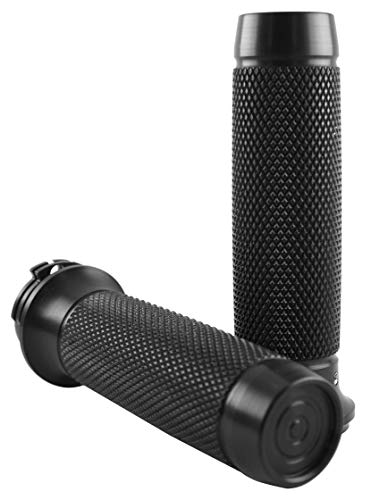 Brass Balls Cycles Knurled Moto Grips Black BB08-202