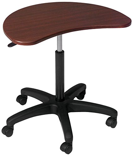 (Balt 47262 Pop Adjustable Height Laptop Mobile Workstation, Mahogany, 21.25