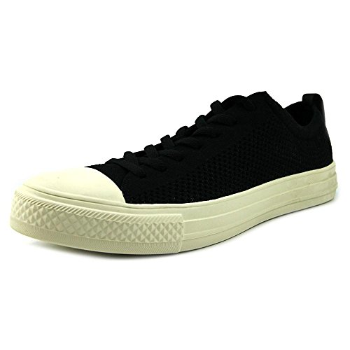 People Footwear Mens The Phillips Knit Shoes, Really Black/Picket White,  Size 12
