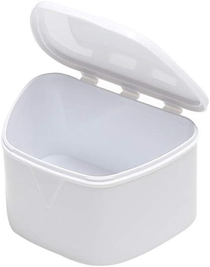 HEALIFTY Estuche para retenedor de prótesis portátil Caja de almacenamiento de protectores bucales ortodónticos (blanco): Amazon.es: Salud y cuidado personal