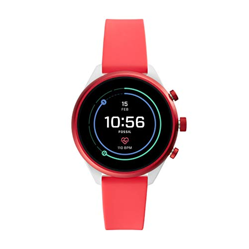 Fossil Women's Gen 4 Sport Metal and Silicone Touchscreen Smartwatch with Heart Rate, GPS, NFC, and Smartphone Notifications