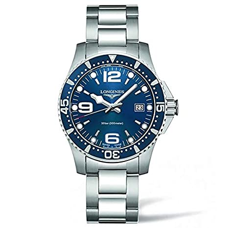 Amazon.com: Longines Mens Steel Bracelet & Case Swiss Quartz Blue Dial Analog Watch L37404966: Watches