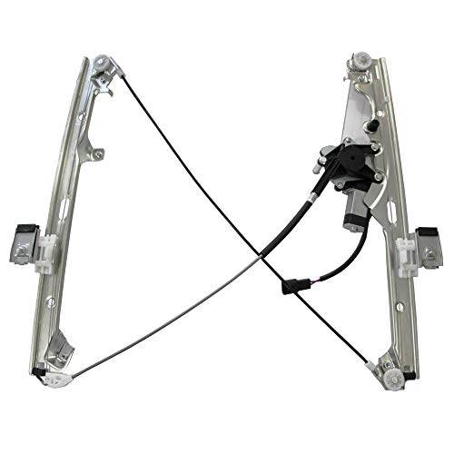 741-645 Front Right Passenger Side Replacement Power Window Regulator with Motor Assembly for Chevy Silverado 1500 Classic & Cadillac Escalade GMC Sierra 1500 Classic 99-07 Silver