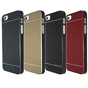 ZCL sold out Metal Finish Hard Cover Case for iPhone 4/4S (Assorted Colors) , Black