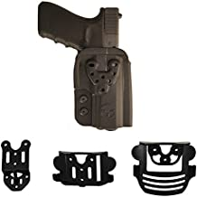 Ultimate Arms Gear Walther PPQ M2 OWB Kydex Modular Multi-Fit Holster with Belt, Paddle and Drop Offset Mount, Black
