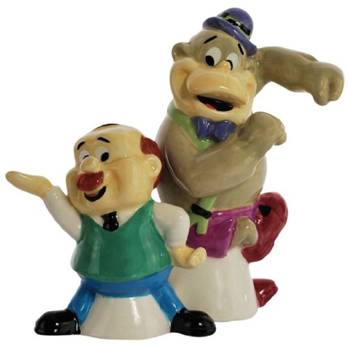 Collectible Ceramic Teddy (Westland Giftware Magnetic Ceramic Salt and Pepper Shaker Set, 3.5-Inch, Hanna-Barbera Magilla Gorilla and Mr. Peebles, Set of 2)