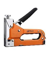Staple Gun 3 in 1 Manual Nail Gun with Staple Remover Kit,Hand Brad Manual Nail Gun Straight Nail Woodworking Three-Purpose Tacker Tool for Fixing Material Decoration Carpentry Furniture
