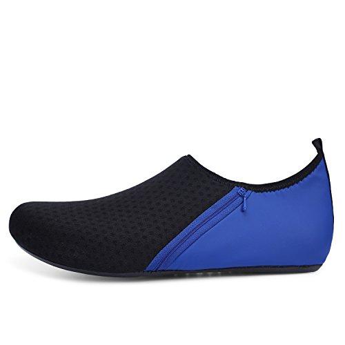 Footware Beach Men's Quick Black Dry Shoes Women's JOINFREE Pocket Socks Aqua Water Blue Barefoot Swim Summer WUawqY8