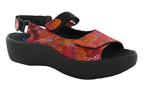 (Wolky Womens 3204 Jewel Red Multi Sandal -)