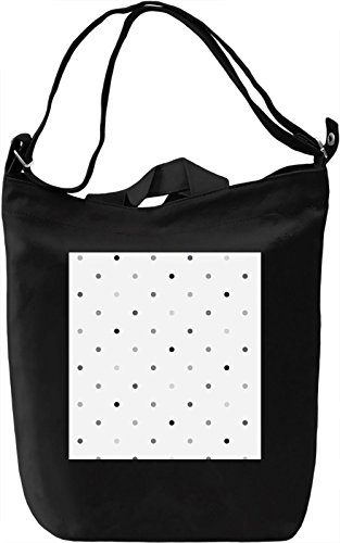 Black and Gray Bubbles Pattern Borsa Giornaliera Canvas Canvas Day Bag| 100% Premium Cotton Canvas| DTG Printing|