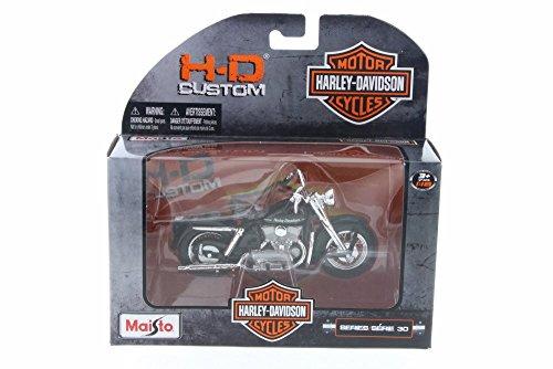 1952 Harley Davidson Model K, Black - Maisto 31360-30 - 1/18 Scale Diecast Model Toy Car (Harley Davidson Toy Box)