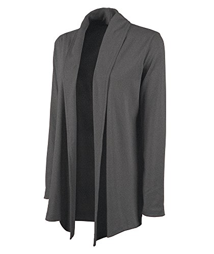 Charles River Apparel Women's Cardigan Wrap, Dark Charcoal Heather, S
