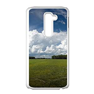 Clouds Sky And Field White Phone Case for LG G2