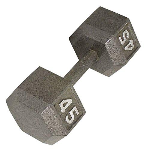 Fitness Gear 45 lb六角ダンベル機能をキャストCast Iron Construction提供する年の使用の