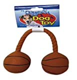 Boss Pet Latex Basketball Dumbbell with Squeaker Dog Toy