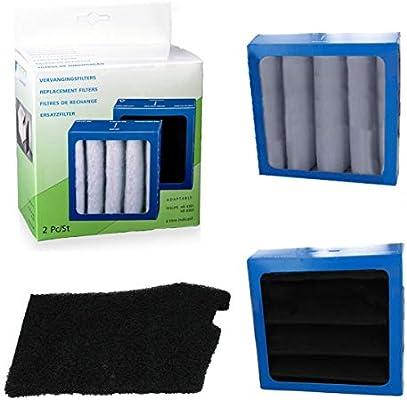 Spares2go - Juego de filtros cuadrados para purificador de aire ...