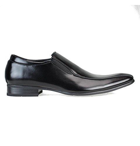 Mm / One Mens Scarpe Casual Oxford Shoes Dress Sheos Lace Up Classico Moderno Nero Marrone Scuro Chmpt112-4black