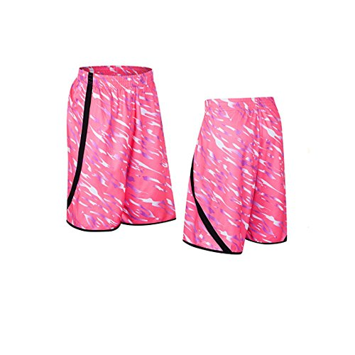 buy online 0fc14 7f1c4 Amazon.com  iKRR Men s Mesh Basketball Athletic Loose Training Workout  Sports Shorts with Pockets Pink  Clothing