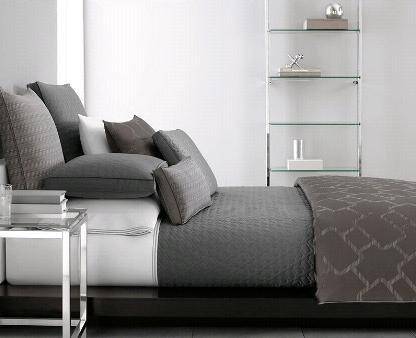Hotel Collection Gridwork 10x20 Decor Pillow Striped Graphite