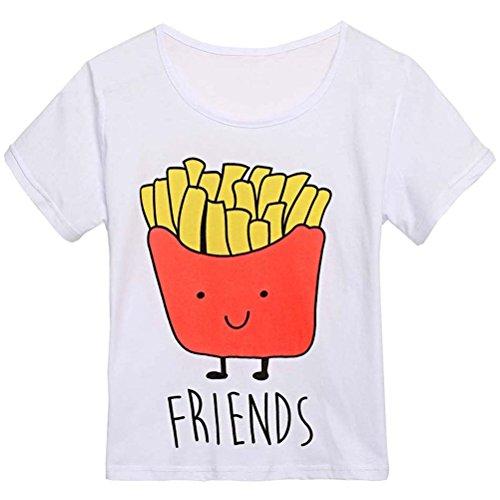 Yonala Hamburger Pattern Friends T shirt product image