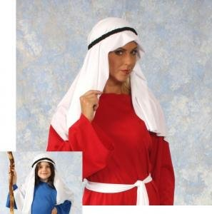 (Alexanders Costumes Story of Christ Mantle Head Scarf, White, One)