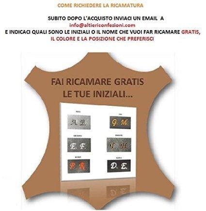 Borsello in pelle uomo artigianato italiano L18XH20XP4 cm Mod : Gio Mini Vintage