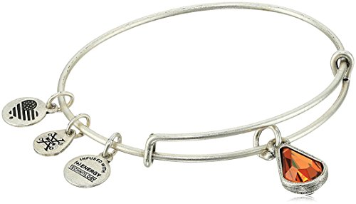 Silver Charm Bracelet Topaz - Alex and Ani November Birth Month Charm with Swarovski Crystal Rafaelian Silver Bangle Bracelet