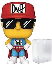 The Simpsons - Duffman Funko Pop! Vinyl Figure (Bundled with Compatible Pop Box Protector Case)
