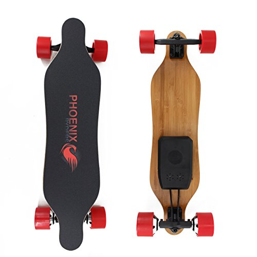 Price comparison product image Alouette PHOENIX RYDERS Electric Skateboard 4.4AH Lithium Battery,Dual Motor Each 350W, 32 Inches Maple with Remote Control