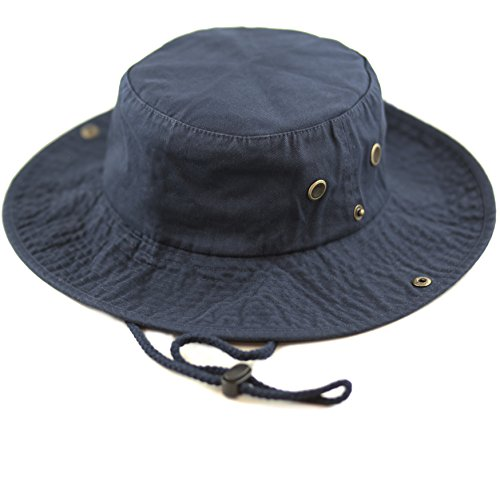 THE HAT DEPOT 300N1510 Wide Brim Foldable Double-Sided Outdoor Boonie Bucket Hat (S/M, -