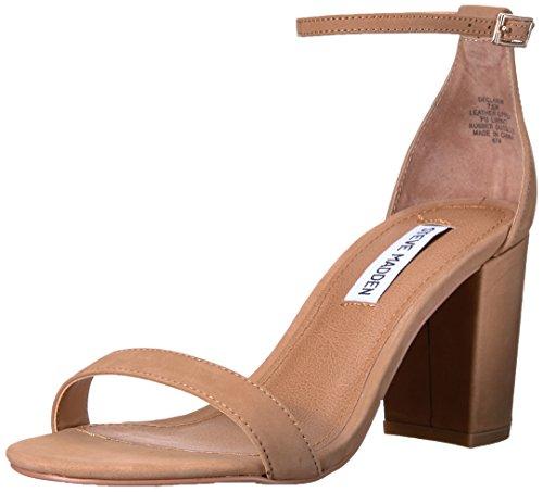 (Steve Madden Women's Declair Dress Sandal, Camel Nubuck, 8 M US)