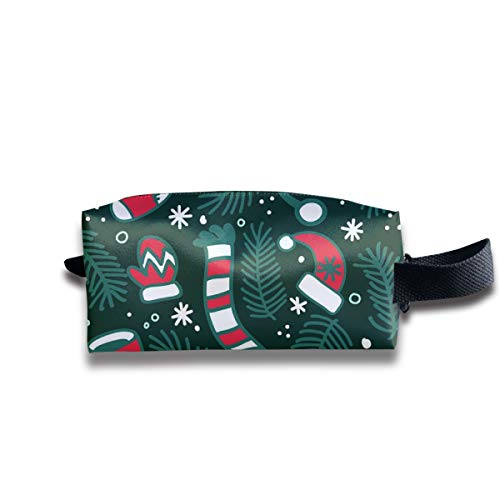 Taslilye Christmas Scarf Hat Gloves and Socks Customized Cosmetic Bag Portable Printing Bag for Women's Storage