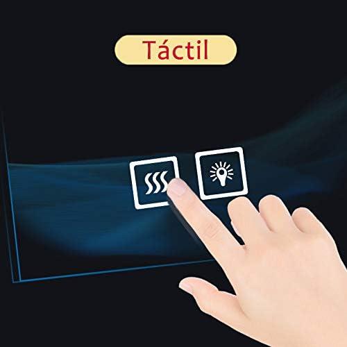 AICA SANITARIOS Espejo de baño 90x65 cm Espejo led - Interruptor Táctil - Función Anti-Niebla - Frío Blanco (6000K) - Espejo de Pared - Espejo con iluminación: Amazon.es: Hogar