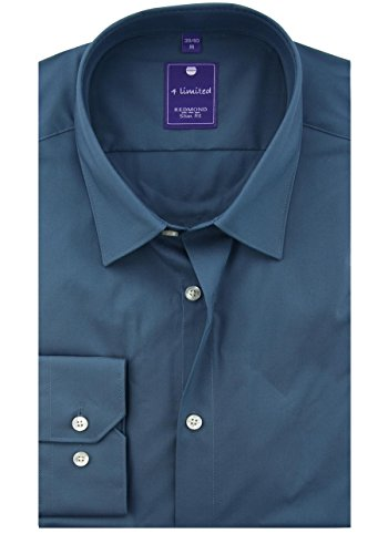 REDMOND 4 limited Camisa business 400130 Slim Fit Hombre verde oscuro