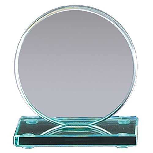 Customizable 8 Inch Round Jade Glass Award, Includes Personalization