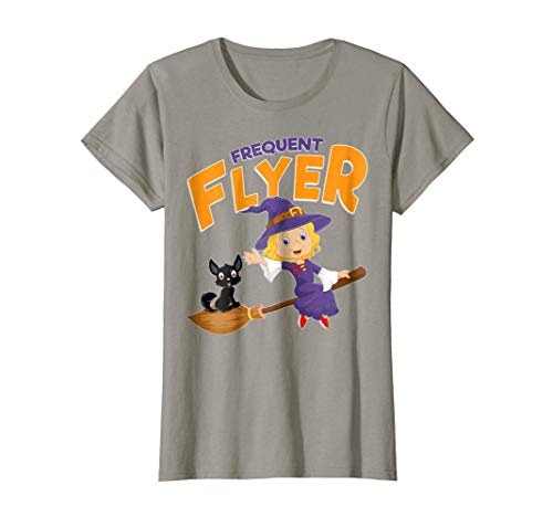 Frequent Flyer Tshirt Witch Funny Gift Halloween Costume -