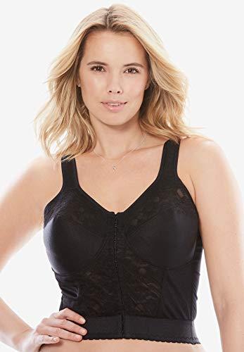 (Comfort Choice Women's Plus Size Easy Enhancer Longline Posture Bra)